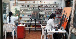 Restaurateur tableaux Cannes